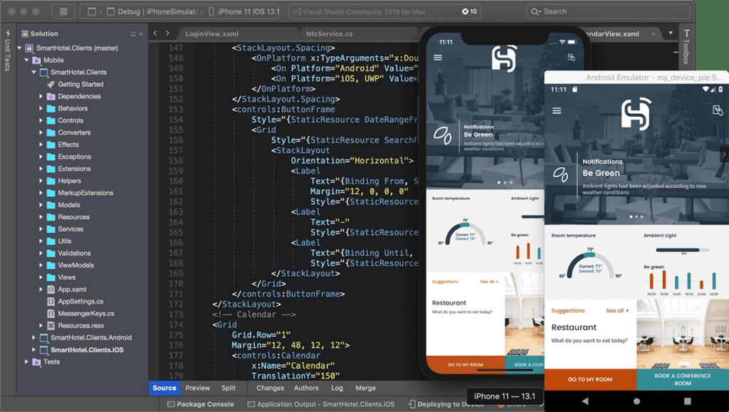 Visual Studio IDE Android