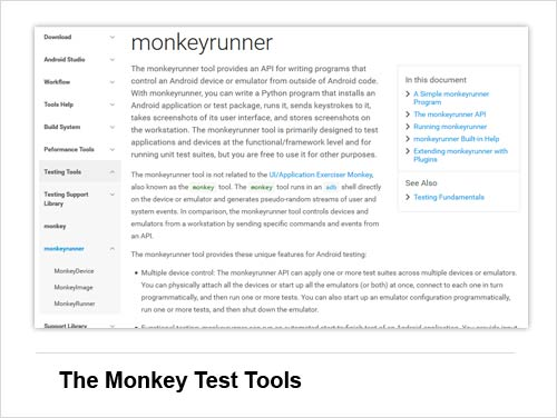 Android Tool #9: The Monkey Test Tools