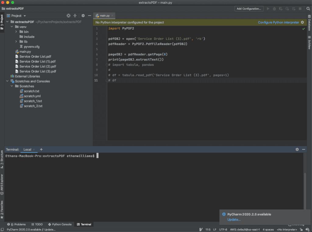 Python IDE PyCharm
