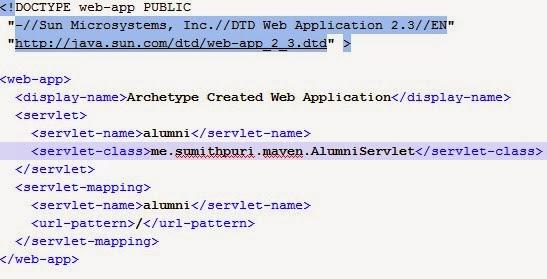 Maven-Java-XML-Alumni-Srvlet