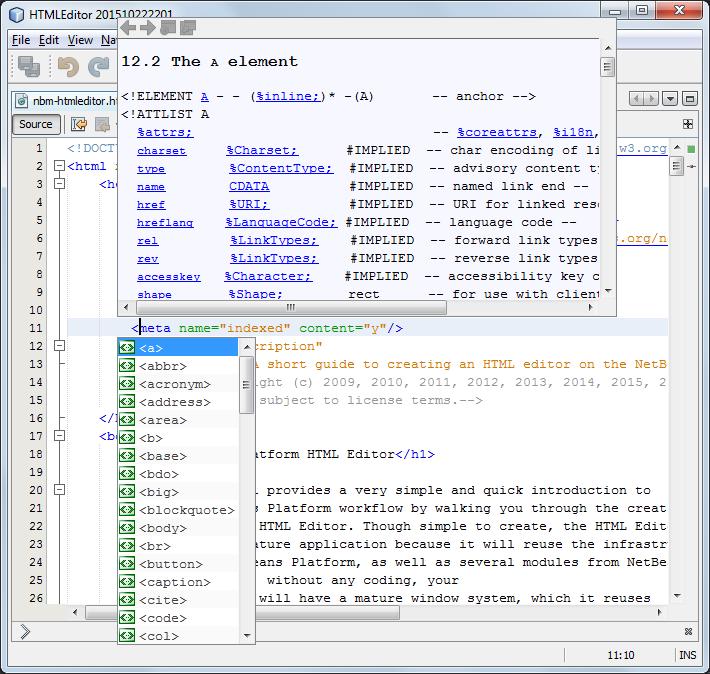 Netbeans Code Editor