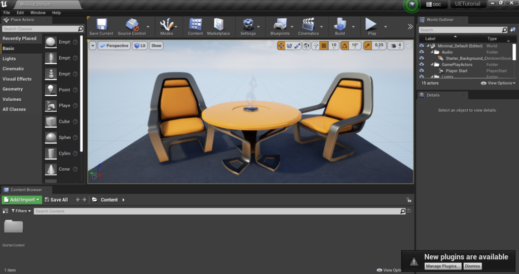 Unreal Engine Interface